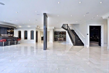 Simple Marble Design in Hall by Sunrise Constrade Corp. - Civil Engineering Construction Company North York