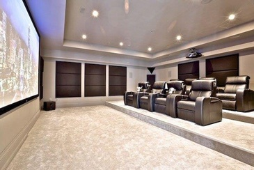 Home Theatre Room Design by Sunrise Constrade Corp. - Architectural Design North York