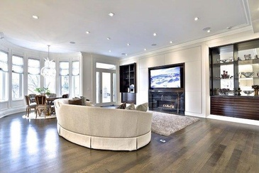 Living Room Design by Sunrise Constrade Corp. - Civil Engineering Company North York